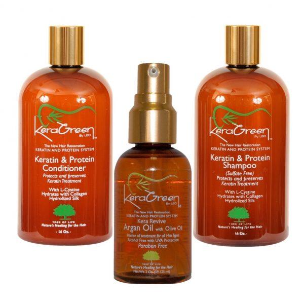 Keragreen Bundle - Shampoo, conditioner and Argan Oil