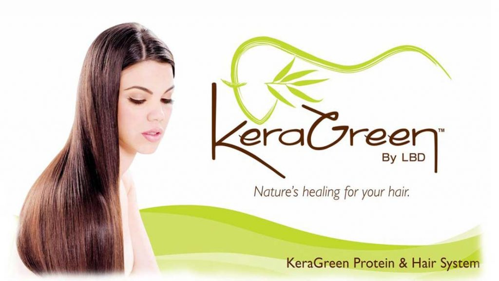 KeraGreen by LBD banner - Nature's healing for your hair - KeraGreen Protein & Hair System
